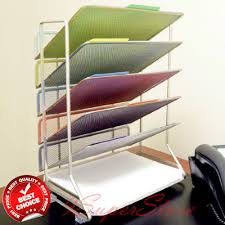 desk office file document paper. 6-Tray-Mesh-Desk-Organizer-Rack-Storage-Holder-File-Folder-Document-Paper- Office Desk File Document Paper