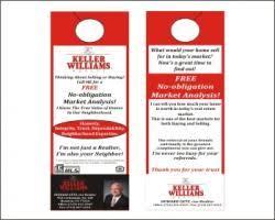 keller williams door hangers. graphic design contest for keller williams realty door hangers