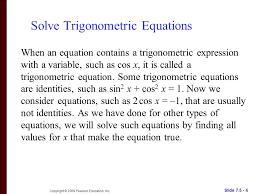 solve trigonometric equations