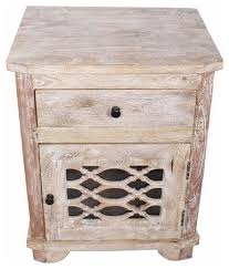 solid mango wood nightstand end table