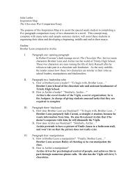chocolate war essay outline doc