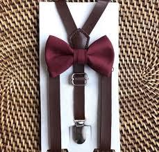 burdy bow tie leather suspenders wedding suspenders boys bow tie burdy bow