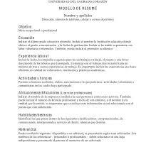 Modelos De Resume 880