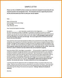 Letters Of Appeal 9 10 Appeals Letter For College Fieldofdreamsdvd Com