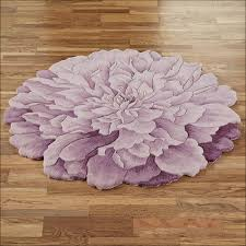 flower shaped round rugs full size