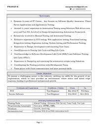 Software Testing Resume Samples For Freshers Best of 24 Years Experience Resume In Manual Testing Images Resume Format