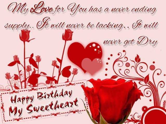happy birthday sms for girlfriend