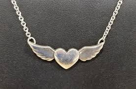 925 let love soar necklace signed