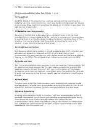 How To Remind About A Recommendation Letter Mba Recommendation Letter Tips