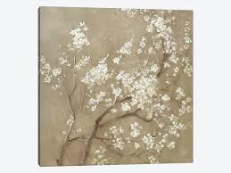 white cherry blossoms i canvas wall art
