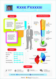 Infographic Resume Template Powerpoint Simplistic 4 Infographic