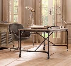 *Restoration Hardware's Garment Factory Desk would also make a very cool  kitchen table. It has a cast-iron base and aluminum top and again has an  industrial ...