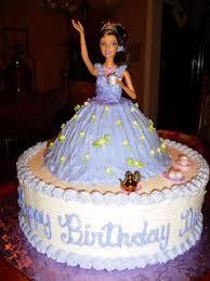 Girl Princess Birthday Cake Designs Barbie Cakes Decoration Ideas