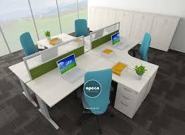 office table furniture design. ST 5 . FILO L-CLUSTER 5. In Workstation. Office Interior Design Singapore - Furniture Table