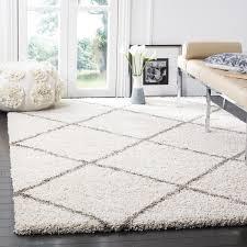 safavieh hudson diamond shag ivory grey rug 9u0026x27 grey white rug u40