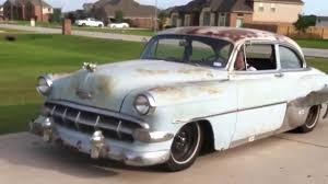 Layin' Rockers Bagged 54 Chevy Bel Air LS1 - YouTube