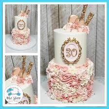 Pink Buttercream Textures 30th Birthday Cake Custom Cakes Nj