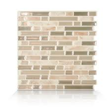 Peel And Stick Kitchen Tile Smart Tiles Mosaik Bellagio Sabbia 1006 X 10 Peel Stick Wall