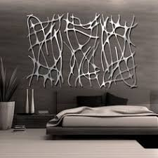 contemporary abstract decoration in brushed metal modern wall art decor mysterious look silver comfortable bedroom tree on wall art decor metal with wall art best metal wall art modern to decor your home contemporary
