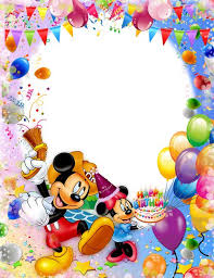 baby frame with clown and balloons happy birthday baby free