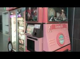 Benefits Of Vending Machines Mesmerizing HD] Glam Up Away Benefit Cosmetic Vending Machine Kiosk At The Las