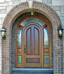 arched front doorElegant Arched Front Door Arched Top Exterior Doors With Surround