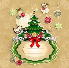 Christmas Cute Greeting Cards Design Vector 07 Free Download