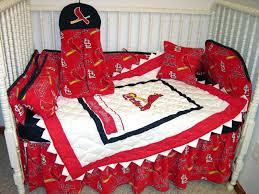 st louis cardinals fabric crib bedding set made w st cardinals fabric