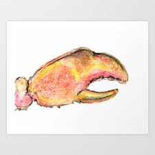 Lobster claw Art Print by ...