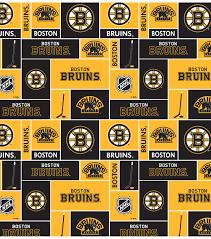 boston bruins fleece fabric block