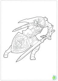 Legend Of Zelda Breath The Wild Coloring Pages Best Images On Free