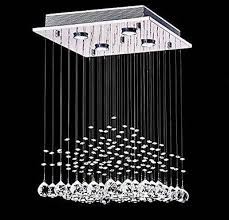 modern square crystal chandelier flush mount ceiling light rain drop chandelier