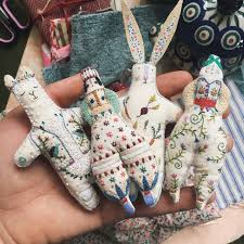 Megan Ivy Griffith's Fanciful Embroidered Dolls - My Paisley World