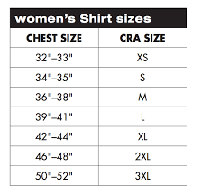 Charles River Apparel Sizing Charts And Measurement Guide