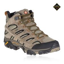 details about merrell moab 2 mid mens brown gore tex walking hiking boots shoes