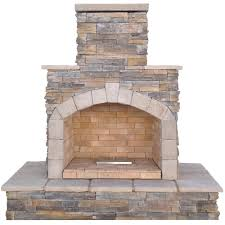 brown cultured stone propane gas outdoor fireplace