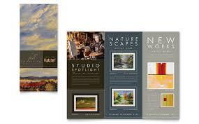 Art Gallery Artist Tri Fold Brochure Template Design