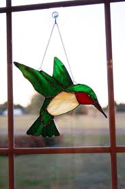 bird feeder stained glass pattern lovely stained glass hummingbird