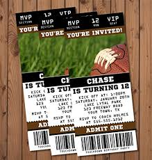 Party Ticket Invitations Unique Amazon Football Birthday Party Ticket Invitations Handmade