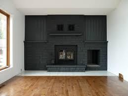 gray painted brick fireplace