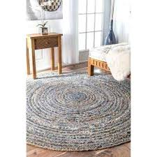 6 foot round jute rug striped ft