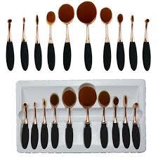 toothbrush shape oval makeup brush foundation powder eyebrow make up brushes beauty tools rose gold black