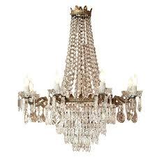 antique bronze crystal chandelier for