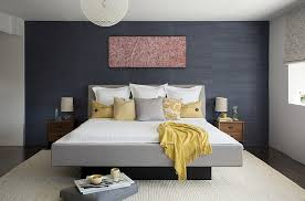 Perfect ... Bring Textural Contrast To The Bedroom With Grasscloth Wallcovering  [Design: ZeroEnergy Design]
