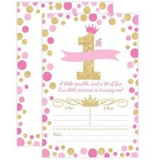 Amazon Com Your Main Event Prints Princess Birthday Invitations