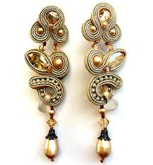 antique gold chandelier earrings antique gold crystals and single pearl drop chandelier earring with frosted glass