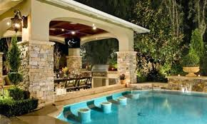 pool with outdoor kitchen swimming plans cost of backyard