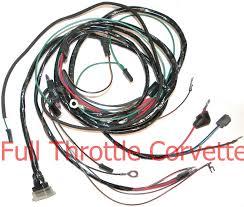 1963 1965 corvette engine harness w o ac or fuel injection 1963 Corvette Wire Harness Diagram 1963 Corvette Wire Harness Diagram #24 Electrical Wire Harness