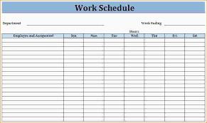 Work Schedule Spreadsheet Template Printable Work Schedule Templates Vastuuonminun
