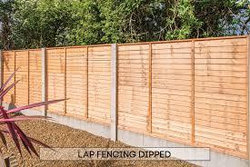 garden fencing dublin dipped lap